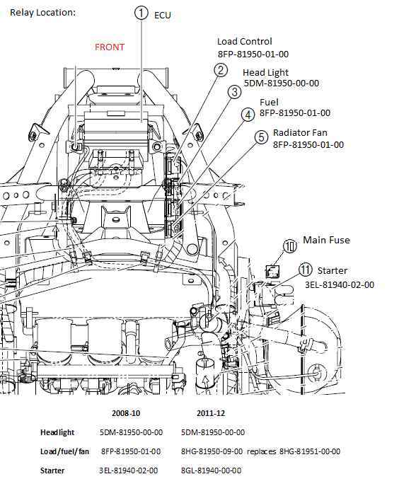 yamaha snowmobile engine diagram