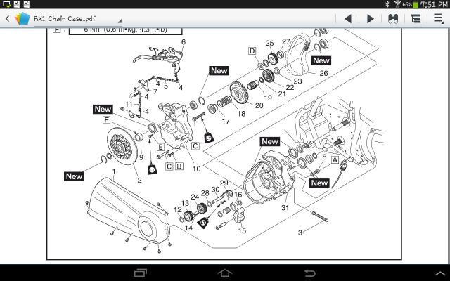 Arctic Cat   Stroke Chain Case Diagram