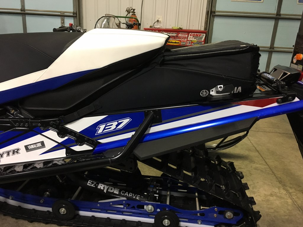 New way to mount tunnel bag w linq ty4stroke snowmobile for Yamaha nytro tunnel