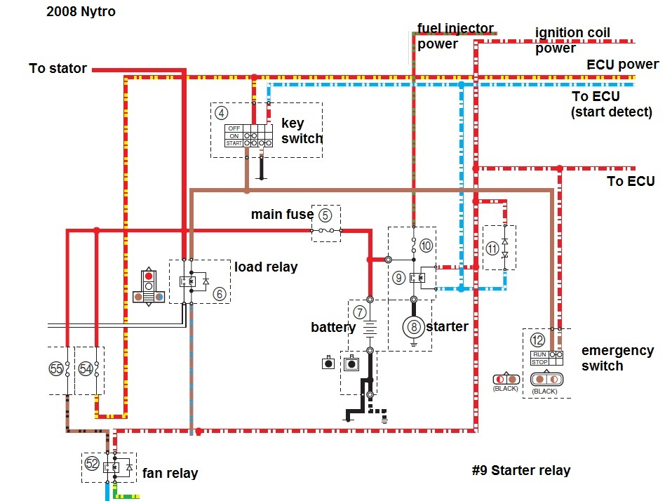 yamaha phazer 2 wiring diagram - wiring diagram and schematic coleman starter relay wiring diagram
